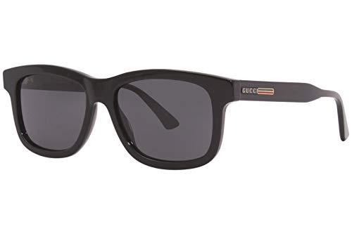 Gucci GG 0824S 005 Gafas de sol rectangulares de plástico negro Lente gris
