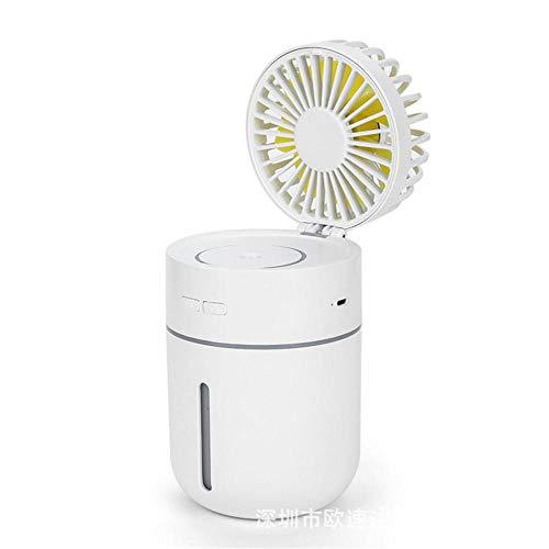 Ventilatore Portatile Mini Ventilatore a Carica USB umidificazione Ventilatore dormitorio casa e Viaggiare Silenzioso Ventilatore@Bianco