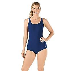 top 10 slimming swimsuits one piece Women's Speedo Swimsuit One Piece PowerFlex Princess Seam Ultra Back Conservative Cut