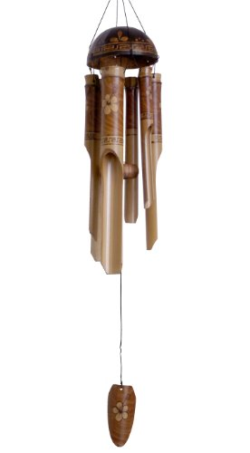 Cohasset Gifts | Bamboo Wind Chimes | Medium 38 inch | Natural Beautiful Sound | Wood Outdoor Home Decor | #130 Flowering Whisper