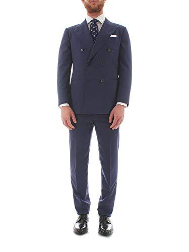Kiton Luxury Fashion Uomo 7R13BLUE Blu Lana Abito | Stagione Outlet
