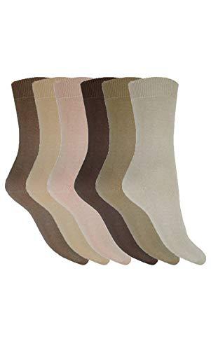 Aler Mens 6 Pack Cotton Lycra Socks 1030-3 Assorted Fashion 6-11