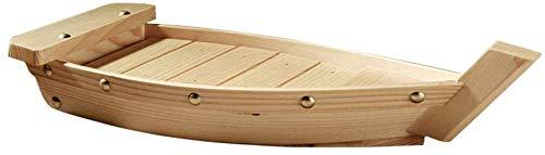 GCDN - Bandeja para sushi (madera), diseño japonés Plato para sushi, cocina, utensilios, japonés, cuisín, sushi, barco, sashimi, plato, cuenco, madera, Como se muestra en la imagen., 37x15.3x7cm