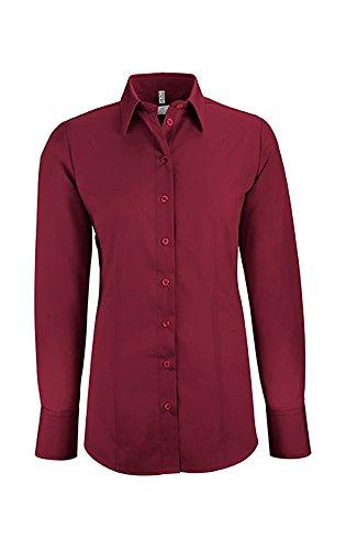 GREIFF Damen-Bluse Basic, Regular Fit, Stretch, Easy-Care, 6515, Farbe: Bordeaux, Größe: 44