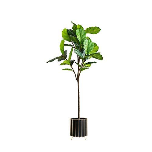 Hogar Planta Artificial Falsos nórdica árbol Ficus Lyrata Hoja Verde Ramas Ficus Lyrata Hoja del árbol Bonsai El Verde Decorativo Árbol Artificial árboles Artificiales (tamaño : 145cm A)