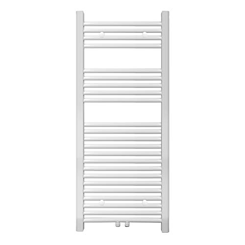 S SIENOC radiateur de Salle de Bain 600 x 1200 mm Blanc raccordement Central radiateur sèche-Serviettes