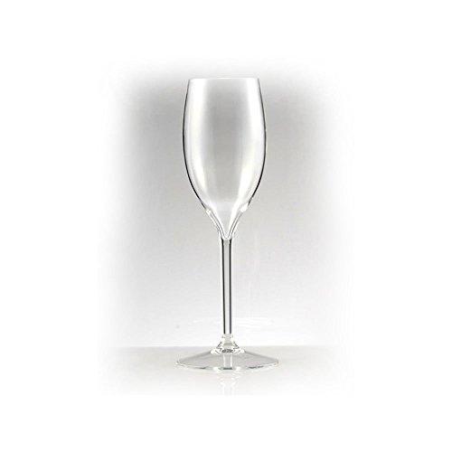 DoimoFlair Flûte à Champagne Flûte à Champagne Tulipe Verre à Gobelet Verre à Vin Blanc Verre à Vin Réutilisable Verre Plastique Transparent Plastique Verre Camping Ensemble Extérieur 6 Pièces