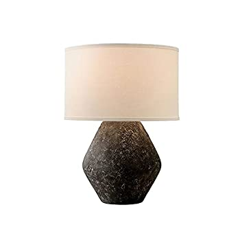Troy Lighting PTL1006 Artifact - 23 Inch Table Lamp Graystone Finish with Off-White Linen Shade