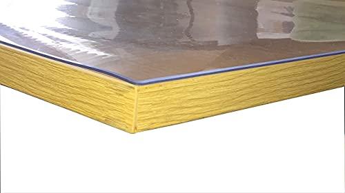 JLKDF Tovaglia Rettangolare Trasparente Tovaglia in PVC Trasparente da 1,5 mm Tovaglia Impermeabile in Vetro Morbido Resistente alle Macchie Copertura Protettiva per la tavola Decorazion