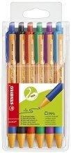Stabilo pointball - Bolígrafo (0,5 mm, estuche azul, verde, rojo, negro, lila), color azul