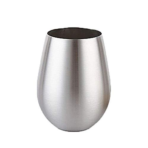 GaoF Taza de café de Porcelana de 18 oz Vasos sin Tallo de Acero Inoxidable inastillables Tazas de café Taza de Viaje Taza de Vino con Doble Aislamiento Vasos de Cerveza Juegos de platillo