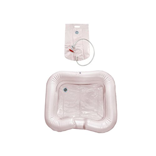aufblasbare Haarwaschwanne mit Duschvorrichtung & Pumpe, Haarwaschbecken, Haarwaschtablett, Bettwaschwanne, Waschbecken für bettlägerige Menschen