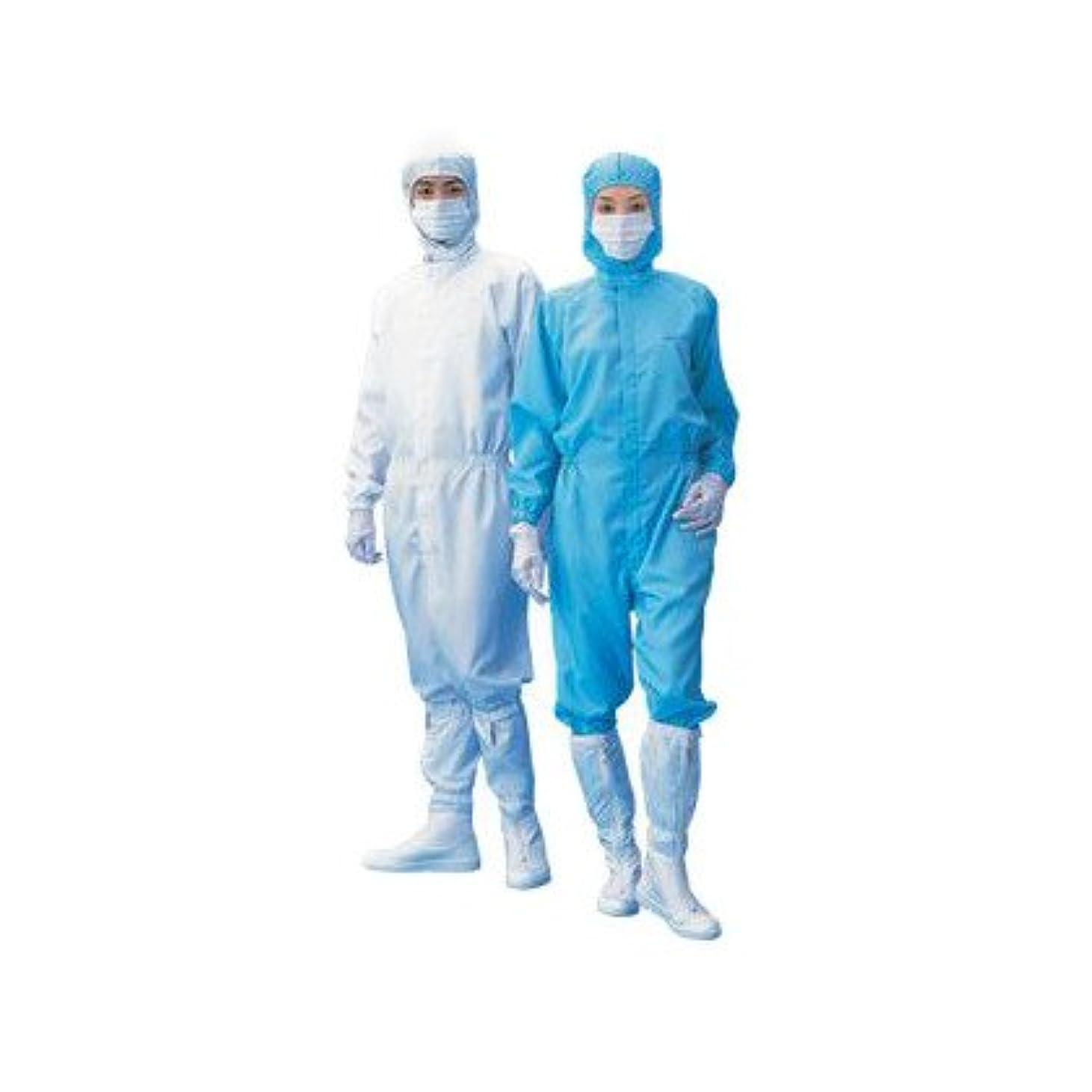 防衛影響境界アズワン 無塵衣AS199C(男女兼用) ホワイト S (1-6364-06) 1枚