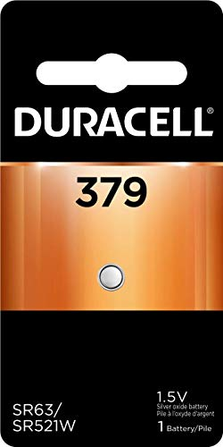 Duracell - 379 Silver Oxide Button Battery - long lasting battery - 1 count