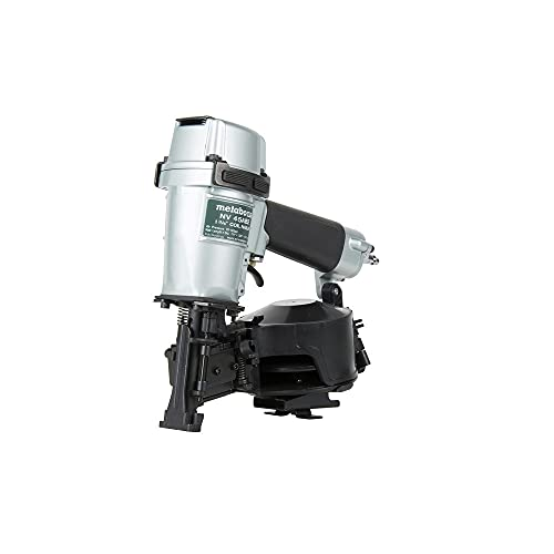 Metabo HPT Roofing Nailer, Pneumatic, Coil Roofing Nails from 7/8-Inch up to 1-3/4-Inch, 16 Degree Magazine (NV45AB2)