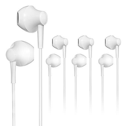 4 Pack VddSmm Auriculares con Cable con Micrófono y Control de Volumen, Adecuados para Teléfonos Móviles, Tabletas, MP3 y Otros Dispositivos de 3,5 mm
