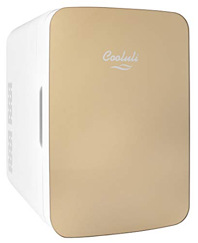 Cooluli Infinity Gold 10 Liter Compact Portable Cooler Warmer Mini Fridge for...
