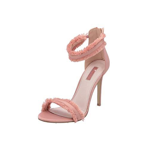 Topshop Riley Satin Fringe Damen Sandalen Beige Flip-Flops Sommer Schuhe, Größe:EUR 41