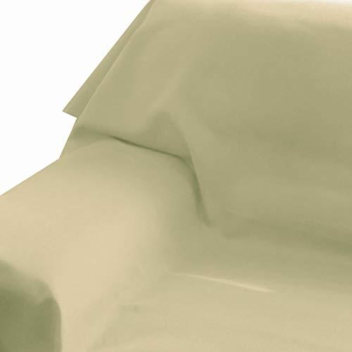 Brilliant Sofaüberwurf Sofa Überwurf Bezug Couchbezug Bettüberwurf Tagesdecke 160 x 260 cm Champagner Farbe und Größe wählbar mit Lotus Effekt Eckig