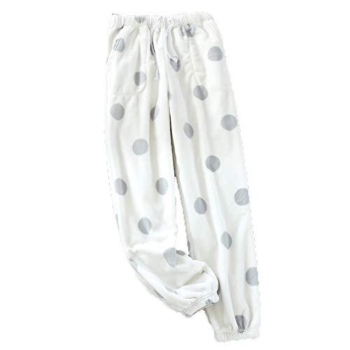Pijamas De Franela para Mujer OtoñO E Invierno CáLidos Pantalones Sueltos De Lana De Coral Lindos Pantalones Caseros Pantalones CáLidos
