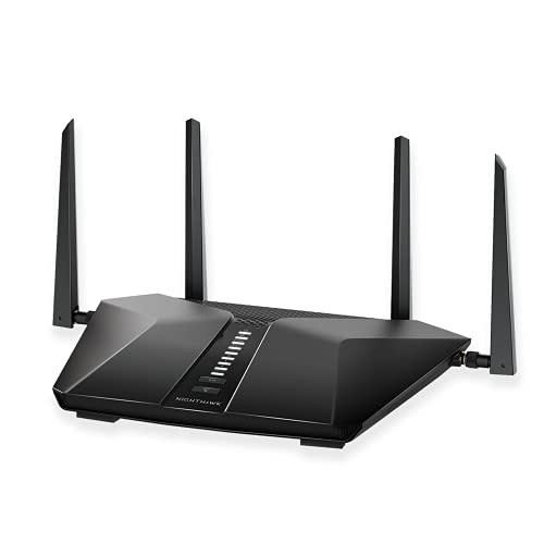 NETGEAR Nighthawk 6-Stream AX5400 WiFi 6 Router (RAX50) - AX5400 Dual Band Wireless Speed (Up to 5.4 Gbps) | 2,500 sq. ft. Coverage