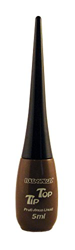 Eulenspiegel 679883 - Professional Liquid Aqua schmink tip top - fles met geïntegreerde kwast - 5 ml - bruin