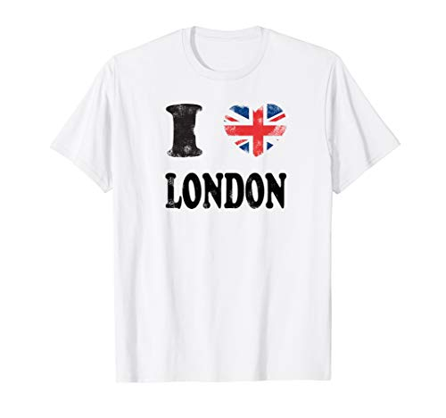 London England T-Shirt- Vintage I Love London Shirt