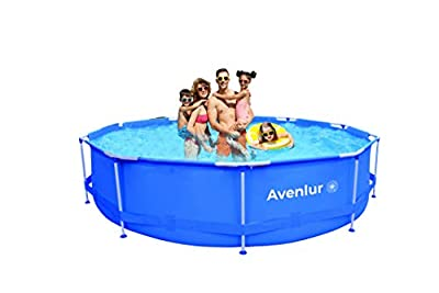 Avenlur Stainless Steel Above Ground Swimming Pool with Easy Set-Up (Pool Only) (12ft x 30in)