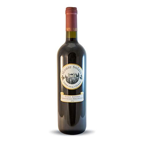 Vino Rosso Toscana IGT - Tino Rosso 2017 - Monte Solaio - Cabernet Merlot e Petit Verdot - Bottiglia 0,75 L
