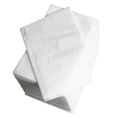 LOVIVER 100Stk. Spa Einweg Bettwäsche Massage Wasserdicht Bettlaken Betttuch - Weiß, 80x180cm