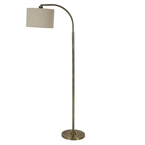 """60"""" Asher Arc Floor Lamp Brass - Decor Therapy"""