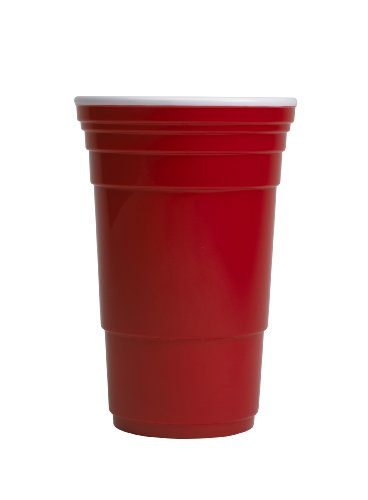 Red Cup Living Reusable Beverage Cup, 32-Ounce, Red