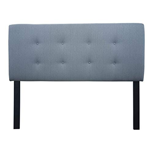 SOLE Designs Ali Collection Contemporary Fabric Upholstered California King Size Headboard With Button Tufted Finish Gray