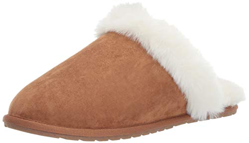 Amazon Essentials Women's Scuff Slipper, Chestnut, 6 B US