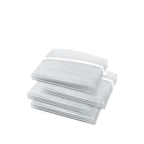 KXT Faltbares Etui/Praktische Hülle zur Aufbewahrung für Unterwegs (4 Stück Transparent/weiß)
