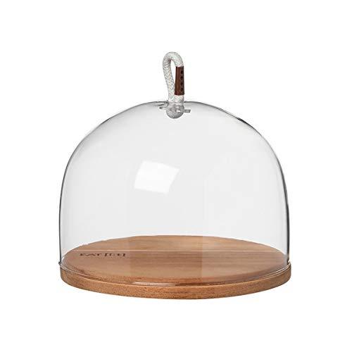 Wielen - PeT - Vino Apero - Cloche/glazen klok met houten vloer - Ø 13cm - Hoogte 10 cm