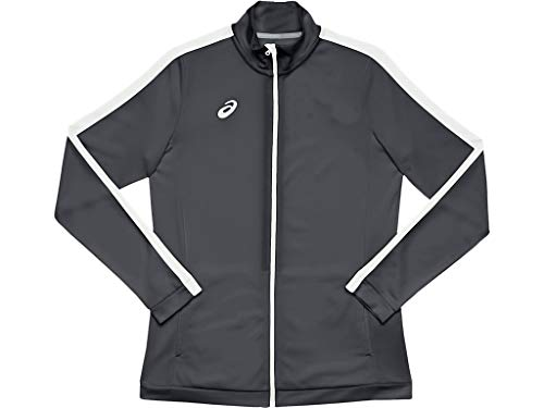 ASICS Damen Team Tricot Warm Up Jacke Trainingsjacke, Damen, Trainingsjacke, 2032A755, Team Steel Grey/Team White, XXS