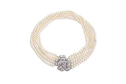 Utopiat strang flapper kostüm perle silber halskette frau inspiriert von audrey hepburn style