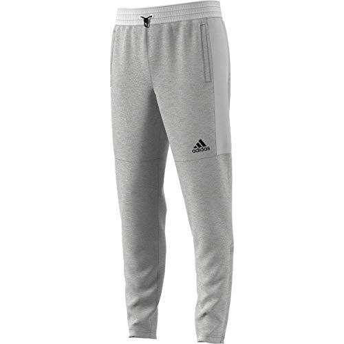 adidas Essentials Pantalones de chándal para hombre, XXL, jaspeado gris/gris sólido