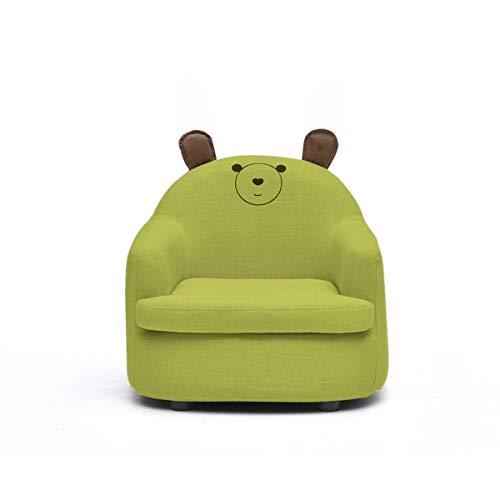Petit canapé fille princesse dessin animé mignon chaise garçon siège paresseux mini chaise de bébé forme mignonne, conception lavable (Couleur : Vert, taille : Bear)