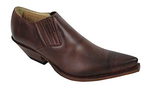 Sendra 4133 Stiefellette Boots Cowboystiefel Westernstiefel Braun Unisex Inclusive Roy Dunn´s Lederfett und Sendra Tragetasche (38)