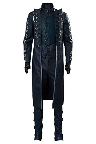 Tollstore Herren DMC 5 Devil May Cry V Vergil Mantel Cosplay Kostüm NEU XXXL
