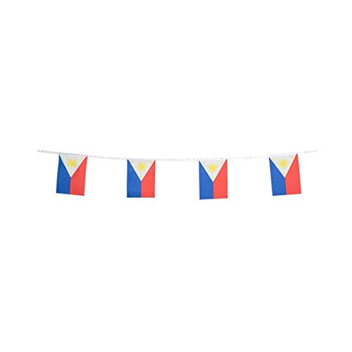 Philippines Filipino Small Mini String Flag Flags Pennant Banner Banners World Country National For Party Events Classroom Garden Olympics doorway Festival Grand Opening Bar Sports School Clubs Event