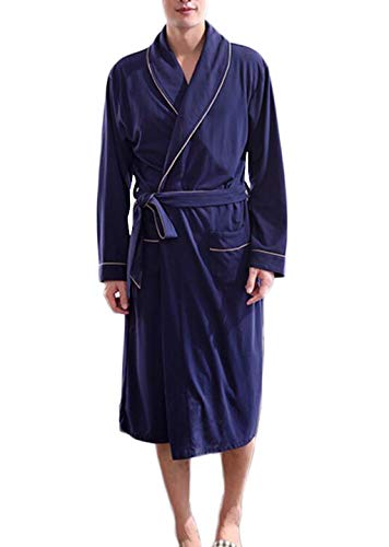 Männer Karierte Pyjama Baumwolle Nachthemd - Lässig und bequem nach Hause Clothing-...