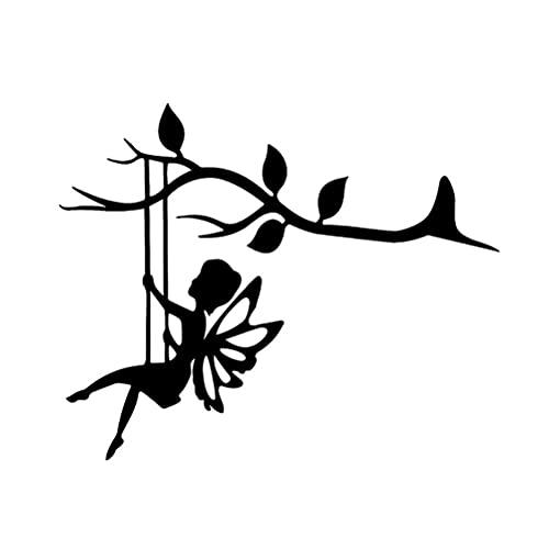 YOISMO Silueta de Metal de Hada de Mariposa - Hadas para Jardines de Hadas, decoración de Pared de jardín y Exterior o como Regalo para niños