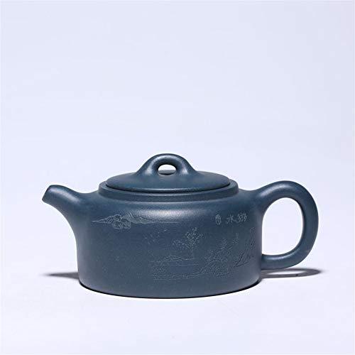 YuanBo Wu Tetera de del Mineral día Qingni Modelos Personalizados Tetera té acera (Color : Azure mud)