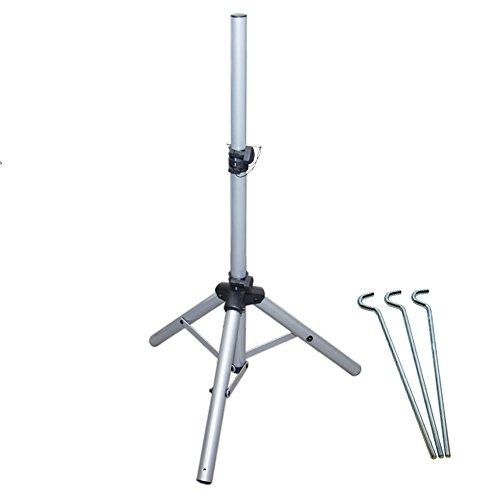 PremiumX Dreibein Stativ Alu Sat Dreibeinstativ für Satellitenschüssel - Ideal für Camping Balkon Terasse als Aluminium Tripod Ständer Balkonständer