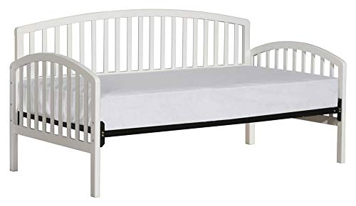 Hillsdale Carolina Solid Pine Wood Daybed in White Finish-Without Trundle - Without Trundle