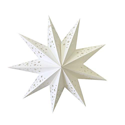 IMIKEYA 2er Set Papier Lampenschirm 45cm Star Papier Laterne für Lampen Leuchten Tischlampen Stehlampen