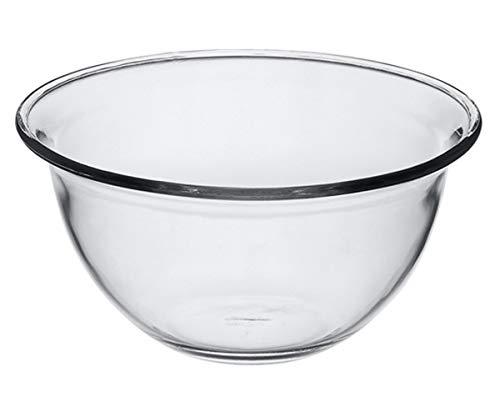 Pasabahce Borcam Schüssel Miba 59514 – Schüssel aus Glas, Ø 21 cm, Backofenfest, Mikrowellenfest, Spülmaschinenfest, für Obst, Salat, Beilagen, Chips, Kochen + Backen, 1 Stück